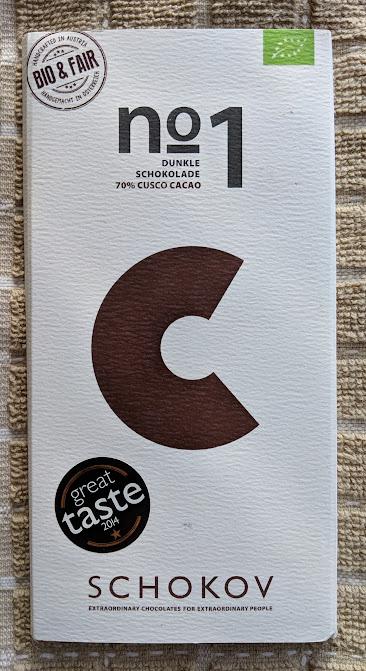 70% Organic Schokov Bar