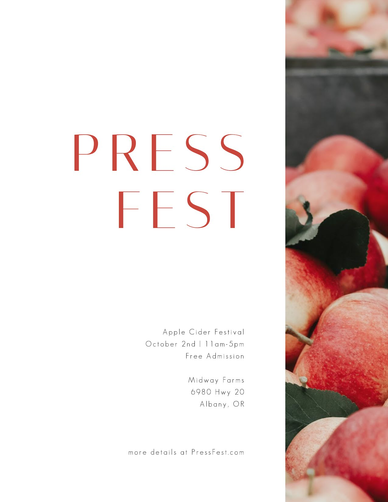 Apple Press Fest - Flyer Template