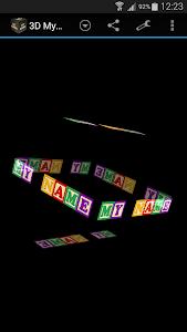 3D My Name Live Wallpaper screenshot 1