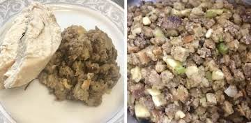 Sausage Apple Bread Stuffing by Nor