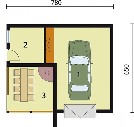 G86 bliźniak - Rzut garażu