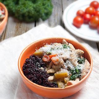 Goan Chicken Curry With Sweet Potato, Coconut & Black Rice.