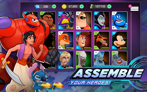 Disney Heroes: Battle Mode filehippodl screenshot 2
