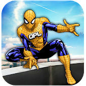 Grand Super Hero Spider Flying City Rescue Mission