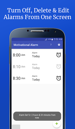Screenshot for Motivational Alarm Clock - Wake Up Inspired in United States Play Store