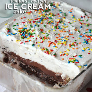 Brownie Bottom Ice Cream Cake.