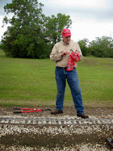 Photo: 1053   Trainmaster Bob Barnett drying his glasses after removing limbs from Phase III.    HALS Public Run Day 2013-0921 RPW