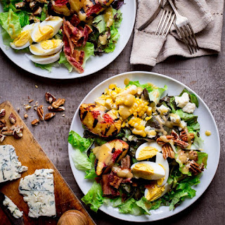 Grilled Corn And Peach Cobb Salad.