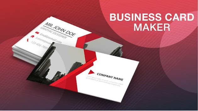 business card maker visiting card maker poster