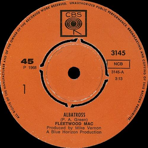 Albatross singlen suomalaispainoksen etiketti