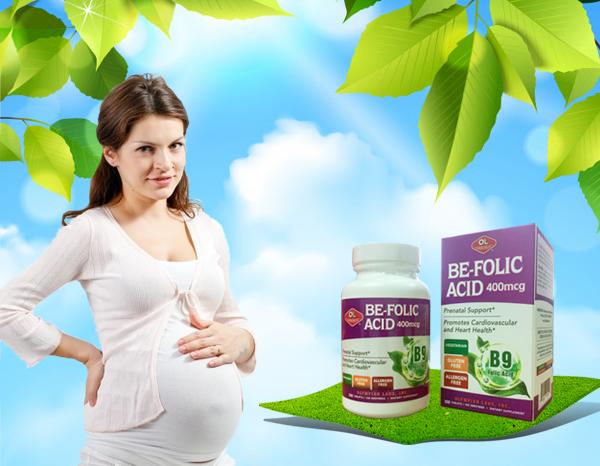 Be-Folic Acid bổ sung đủ lượng Axit folic cần thiết cho mẹ bầu.