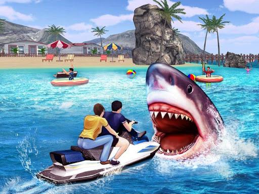 怒っているサメの3Dシミュレーターのゲーム