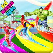 Kids Super Hero Water Slide Amusement Park Uphill APK for Bluestacks