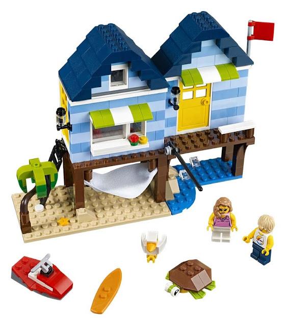Contenido de Lego® 31063 Vacaciones en la Playa