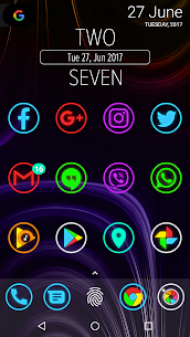 Neon Glow Rings – Icon Pack (MOD, Paid) v4.8.0 2