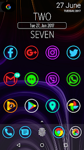 Neon Glow Rings - Icon Pack - náhled