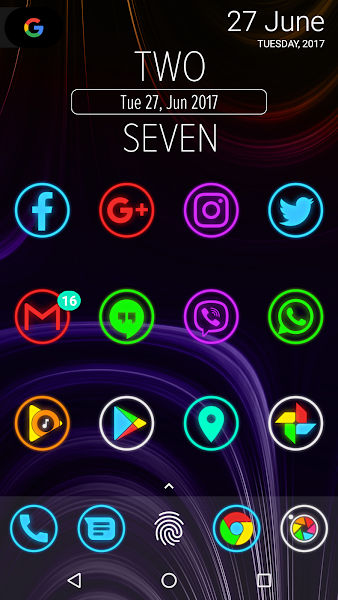 Neon Glow Rings - Icon Pack- screenshot