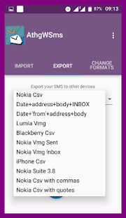 Any(thing, VMG, CSV) with SMS- screenshot thumbnail