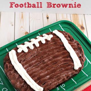 Chocolate Fudge Football Brownie.