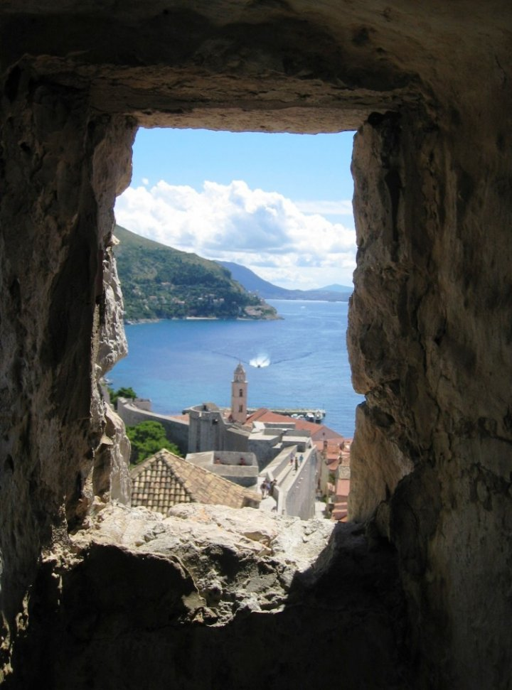 La finestra su Dubrovnik di Kirghisia
