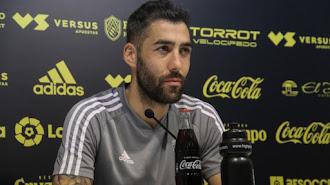 Alberto Perea después del entrenamiento del Cádiz.