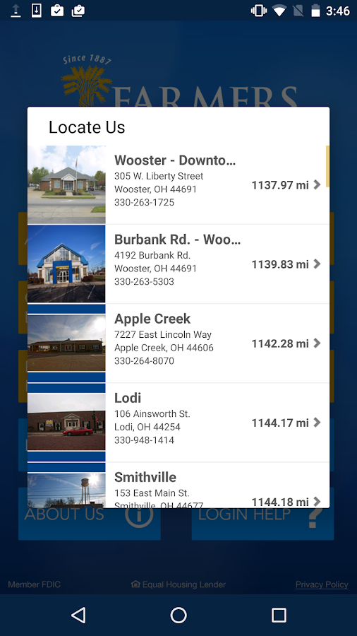 Farmers National Bank Canfield- screenshot