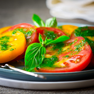 Tomatoes With Thai Basil Dressing