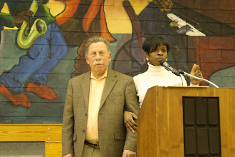 Photo: Stu Greenberg and Commissioner Susan Slawson.