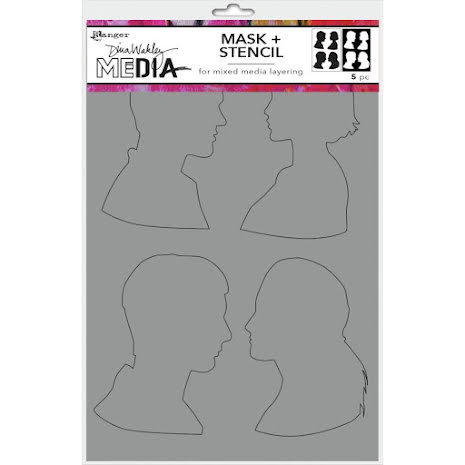 Dina Wakley Media Stencils + Masks 6X9 - Profiles