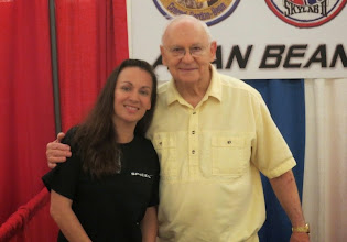 Photo: With Alan Bean of Apollo 12... fourth man to set foot on the surface of our Moon! Also later part of the Skylab II (3) mission.
