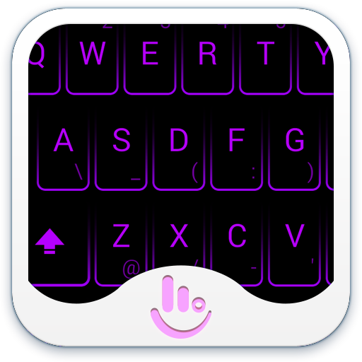 New Neon Purple Keyboard Theme Android APK Download Free By Powerful Phone