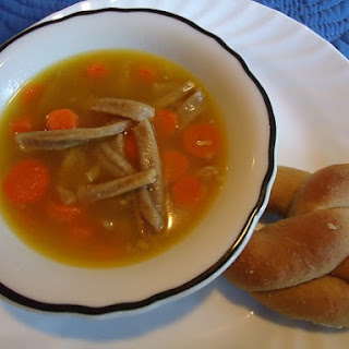 Chicken Noodle Soup – with homemade broth and noodles!