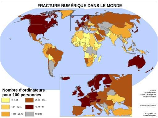 Cartographie de la fracture numérique dans le monde