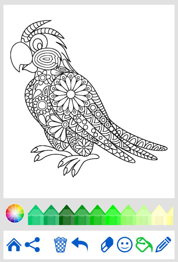 Coloring Book Animal Mandala