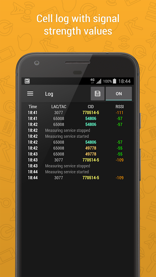 Cell Signal Monitor Pro - mobile networks monitor- screenshot