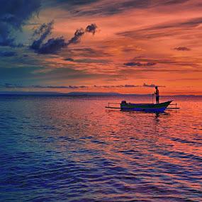 Fisherman by David Loarid - Landscapes Sunsets & Sunrises