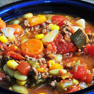 Healthy Vegetable Soup Slow Cooker Recipes.