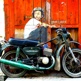 Street Art (Motorcycle) by PS FOONG - Transportation Motorcycles