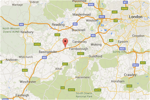 Map of Aster Maintenance location in Hampshire