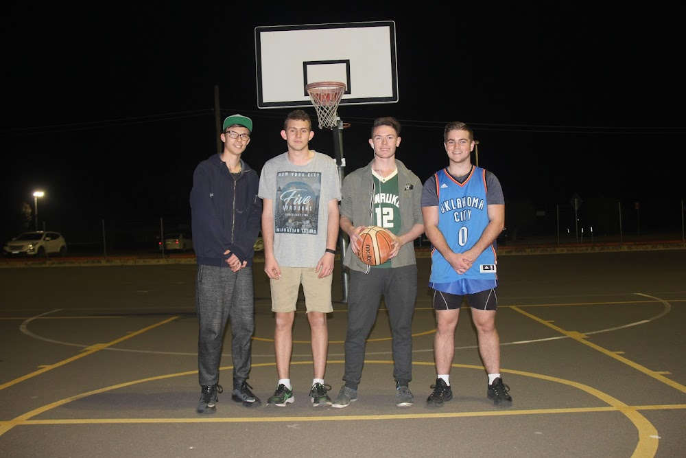 Narrabri Thunder players Dylan Thompson, Liam Sims, Jesse Bennett and Adam Hennessy started their season with a 45-22 win last week.