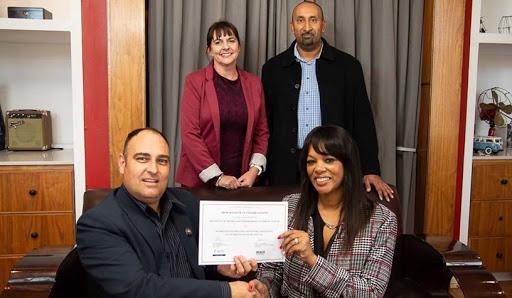 From Left: Jaco de Jager, CEO, ACFE SA; Helen du Toit, ACFE SA Board Member; Arlene-Lynn Volmink, President, ISACA SA; and Sanjay Charavanapavan, Education Coordinator & Director, ISACA SA