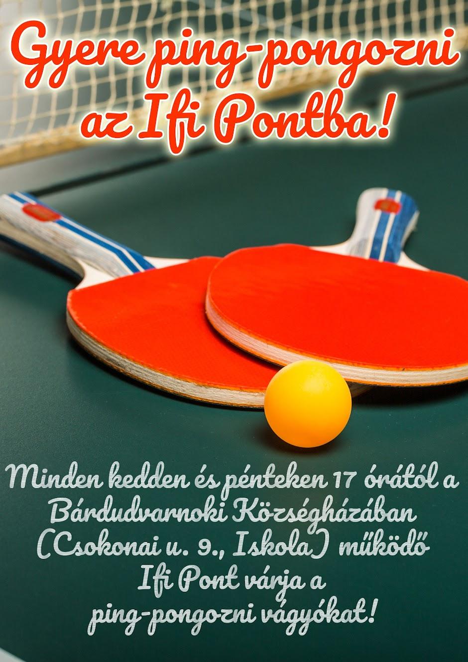 Gyere ping-pongozni az Ifi Pontba!