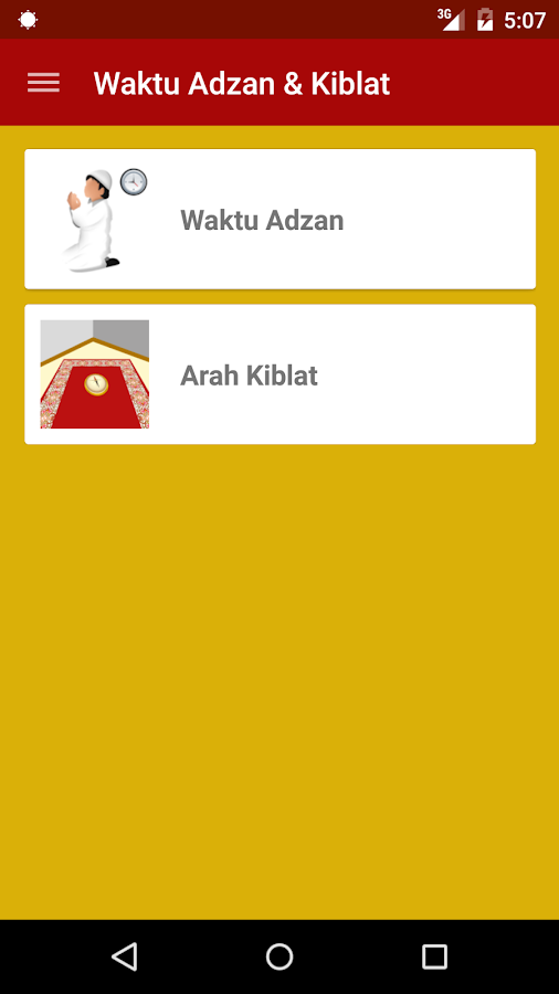 Waktu Adzan & Kiblat- screenshot
