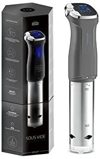 Kitchen Gizmo Sous Vide Immersion Circulator - Bonus Sous Vide Recipe Cookbook Included - Grey