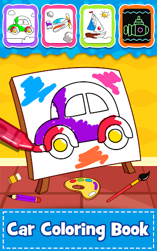 Cars Coloring Book for Kids - Doodle, Paint & Draw - Apps on ...