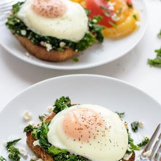 Easy Feta Kale Eggs Florentine