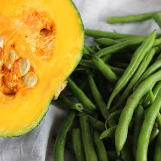 Stir Fried Kabocha Squash and String Beans.