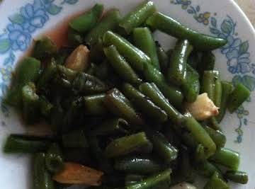 Roasted Garlic Green Beans or Asparagus & Sauce