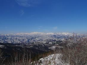 白山方面を望む