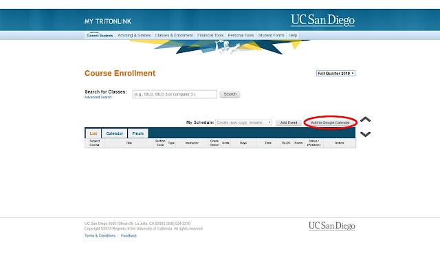 UCSD Class Scheduler